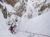 Location: Forcella Moser, Sella, Dolomites - Rider: Enrico Baccanti